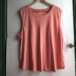 OLD NAVY Plus Peach Coral Sleeveless Muscle Tank